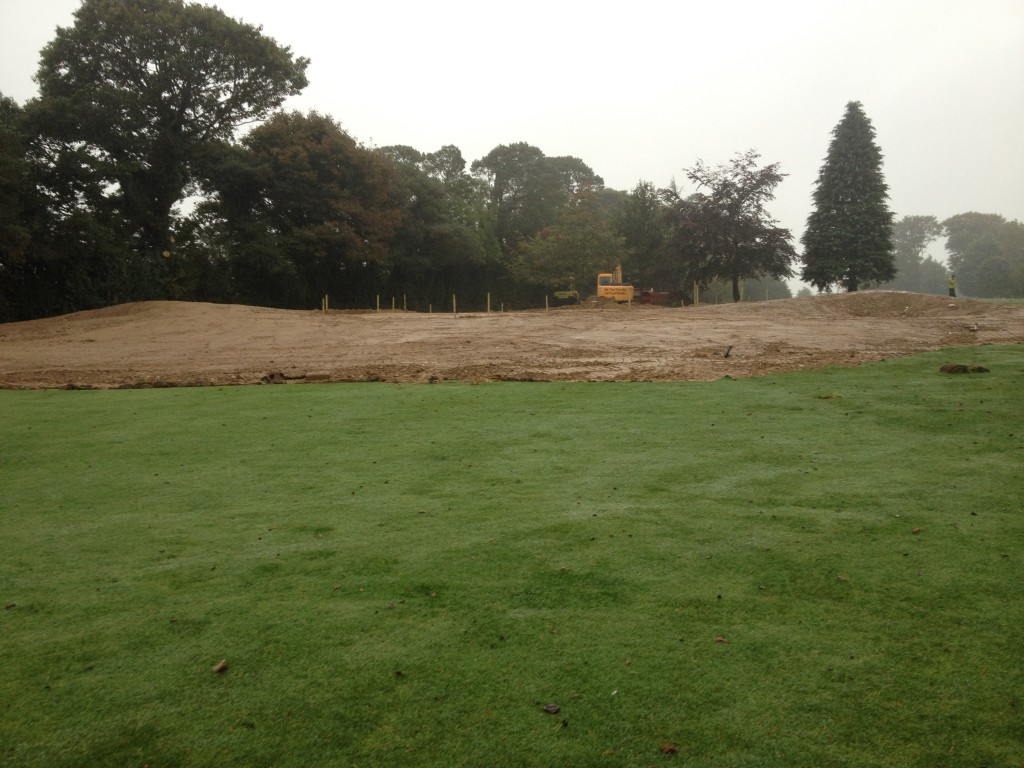 17th Green at Enniscorthy at Rough Shaping stage