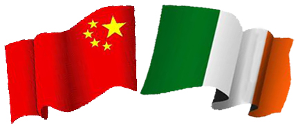 Chinese-Irish-Flags-Fluttering