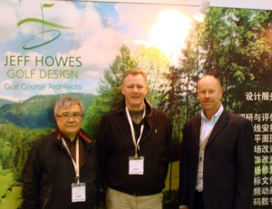 The JEFF HOWES GOLF DESIGN Chinese Team - Pictured is Mr. Francis Lin, Mr. Mick Quaid and Mr. Jeff Howes
